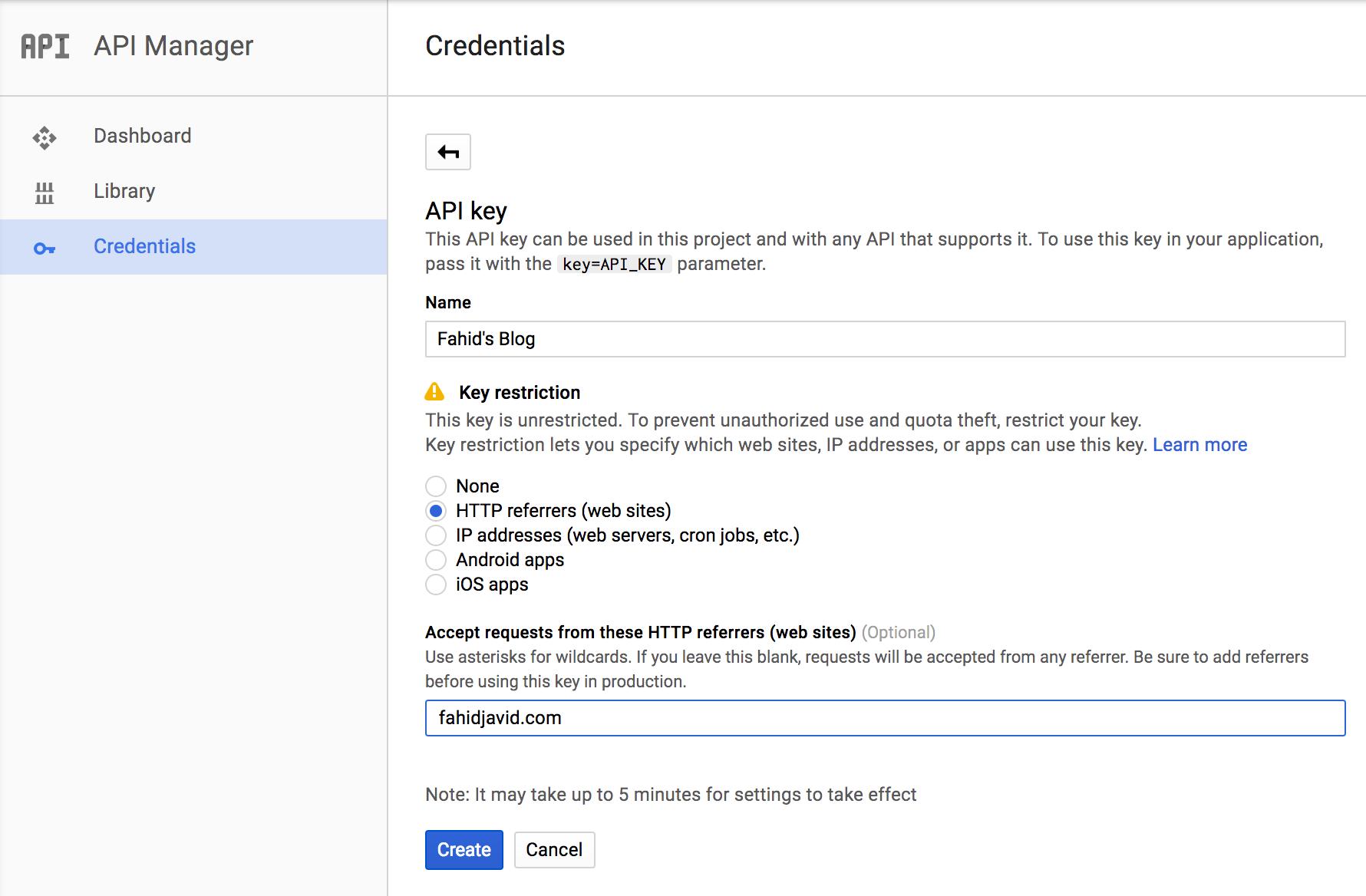 Google Maps Browser API key